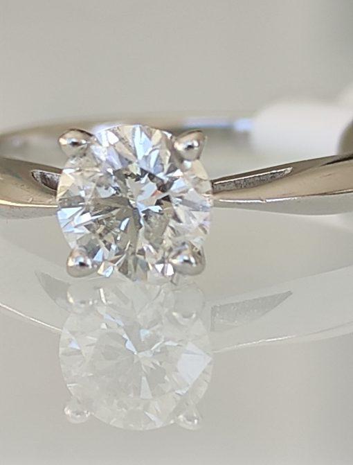 Inel platina Scot Kay si diamant 0.65ct